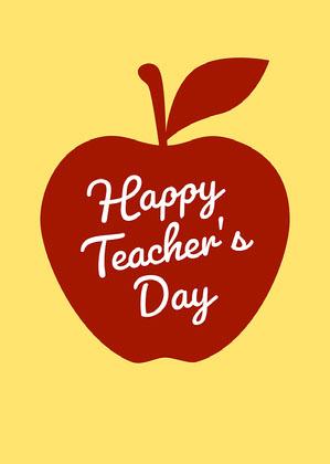 Yellow Online Teacher's Day Card Online Teacher's Day Card