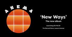 Black and Orange Circle Grid Album Release Concert Facebook Ad Launch