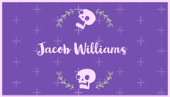 Floral Skull Halloween Party Place Card Halloween Party Place Card