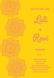 henna inspired wedding cards Hochzeitsdankeskarten