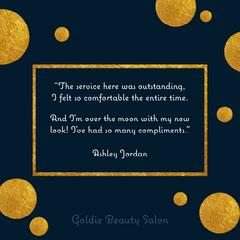 Gold & Navy Customer Testimonial Instagram Square Beauty Salon