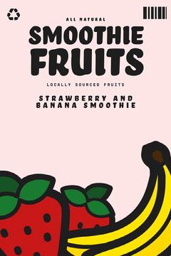 Illustrative Smoothie Fruits Packaging Label  Fruit
