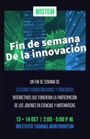 innovation weekend event poster  Cartel de evento