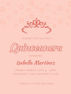 Pink Quinceanera Party Invitation Club Party