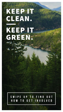 Keep it Green Instagram Story Green