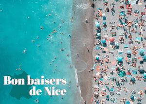 Blue Love from Nice Postcard  Carte postale de voyage