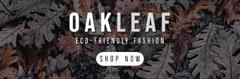 Oak Leaves Environmentally Friendly Fashion Store Horizontal Ad Banner Leaf