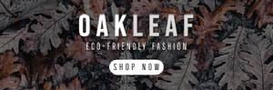 Oak Leaves Environmentally Friendly Fashion Store Horizontal Ad Banner Volantino pubblicitario