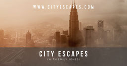 brown grey white mist city skyline facebook cover
