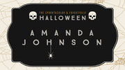Black, White and Gold, Dark, Scary, Halloween Party Name Tag, Place Card Festa di Halloween