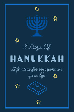 Blue 8 Days Of Hanukkah Gift Guide Pinterest Hannukkah