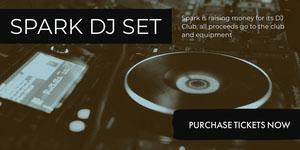 Black and White Spark DJ Set Social Post Music Banner