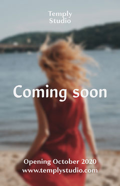 Red Woman on Beach Photo Coming Soon Poster  Dress