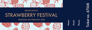 Navy Blue Strawberry Festival Ticket Boleto de sorteo