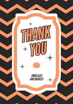 Halloween Horror Party Thank You Card Halloween Party Thank you Card