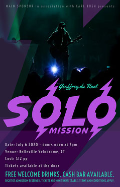 Purple Solo Music Concert Poster Band