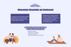Blue Mental Health In School Landscape Kids