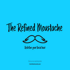 Blue Background The Refined Mustache Instagram Post Barber
