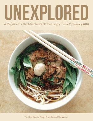 Beige and Chinese Food Magazine Cover Copertina per rivista