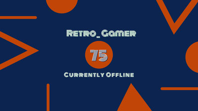 Navy Blue and Orange Retro Gamer Banner Tumblr-banner