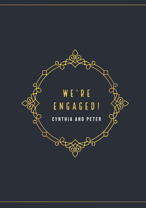 Yellow and Black Engagement Announcement Annonce