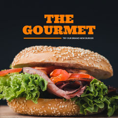 Orange The Gourmet Burger Instagram Square Burger