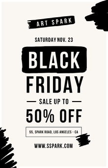 Black Friday art sale poster Poster