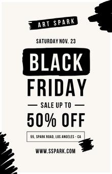 Black Friday art sale poster Pôster