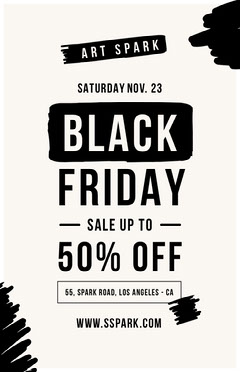 Black Friday art sale poster Thanksgiving Sale