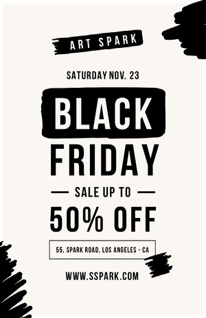 Black Friday art sale poster Affiche d'art