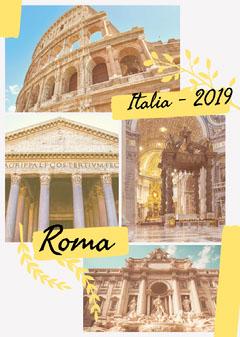 rome Italy travel flyer Italy