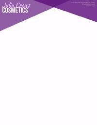 Purple Elegant Geometric Cosmetics Business Letterhead Letterhead Templates