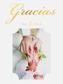 wedding rings wedding thank you cards Tarjetas de agradecimiento de boda