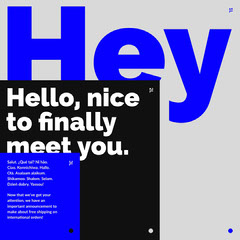 Blue Black and Gray Descriptive Typographic Social Graphic Typography