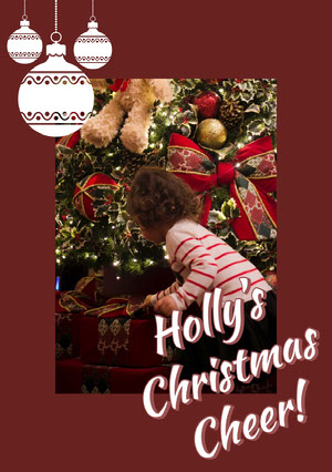 Holly's<BR>Christmas<BR>Cheer! Weihnachtskarte