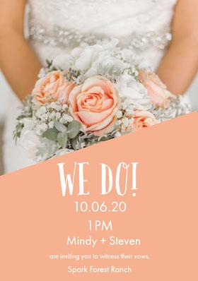 WE DO! Anúncio de casamento