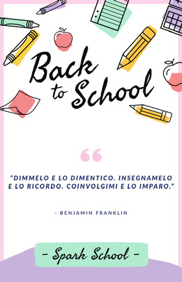 back to school poster Volantino