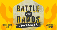 Yellow & Black Grunge Battle of the Bands Fundraiser Facebook Post Fundraiser
