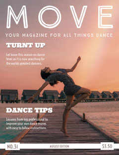 Move Dance Magazine Cover  Dance Flyers