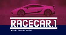 Purple and Blue Sports Car Driving Game Twitch Banner Banner per Twitch