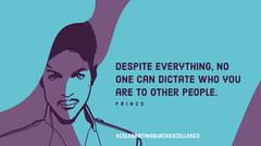 Blue and Purple Minimalistic Prince Quote Facebook Banner History