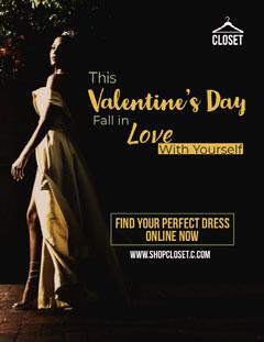 Valentines Dress Promo Newsletter Promotion