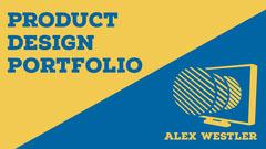 Blue & Yellow Product Design Portfolio  New Collection