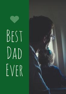 Green and Father Photograph Father's Day Card Biglietti elettronici per la festa del papà