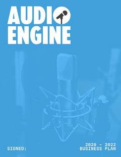 Blue Audio Engine Business Plan Cover Marketing