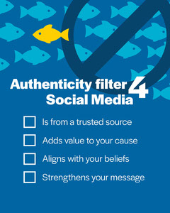 Blue White and Yellow Fish Authenticity Filter Checklist IG Portrait Fish