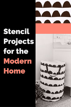 Orange and Black and White Stencil Project Home Decor Pinterest Graphic Decor