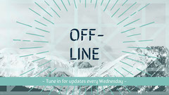 Blue and White Offline Banner Mountains