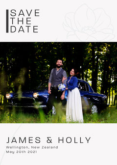 Save the date Card Couple