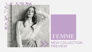 Grey & Purple Fashion Collection Presentation Cover Presentation